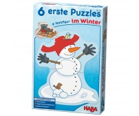 Set 6 puzzle, Haba, Winter Fun, 2ani+