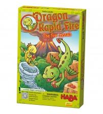 Joc distractiv cu zaruri, Haba, Dragonul Rapid Fire - Cristalele de foc, 3ani+