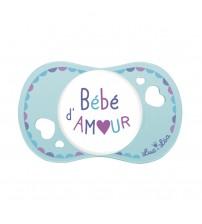 Suzeta fiziologica Bebe D'amour, Luc et Lea,  0-6 luni