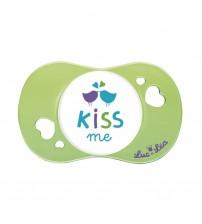 Suzeta fiziologica Kiss me, Luc et Lea, 6 luni+