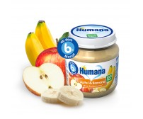 Piure ECO De Banane Si Mere, Humana, 190g, 6luni+