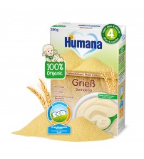 Cereale Humana ECO, Gris Fara Lapte, 200 G, 4 Luni+