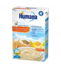 Cereale, Humana Cu 5 Cereale Si Banane, 200g, 6 Luni+