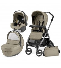 Carucior 3 in 1, Peg Perego, Book Plus 51 Black Sportivo Geo