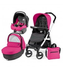 Carucior 3 in 1, Peg Perego, Book Plus S, Black&White, Sportivo Bloom