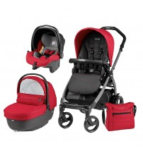 Carucior 3 in 1, Peg Perego, Book Plus 51, Black, Sportivo Bloom