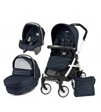 Carucior 3 In 1, Peg Perego, Book Plus 51, Black&White, Sportivo Bloom