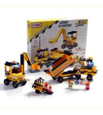 Cubix - Constructii: Camion si excavator, 274 buc, 4ani+