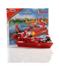 Cubix - Interventii: Barcă SOS Pompierii, 97 buc, 4ani+
